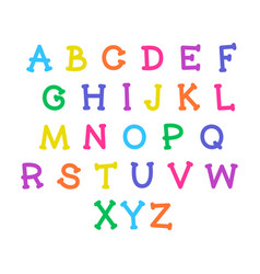 cute cartoon alphabet funny font doodle vector image