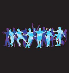 dancers 2 vector image