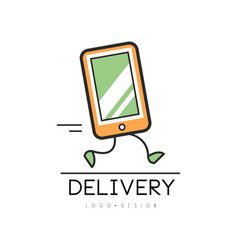 delivery logo design creative template with vector image