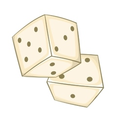 Dice icon cartoon style vector