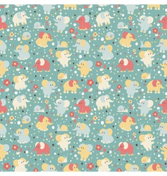 Elephant and snailseamless pattern vector image