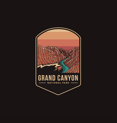 emblem patch logo grand canyon national park vector image