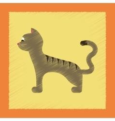 Flat shading style icon cartoon cat vector