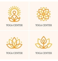 Four yoga logo vector