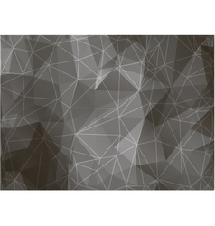 Geometric triangles on black and white background vector