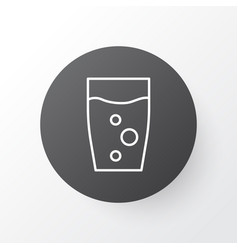 glass icon symbol premium quality isolated vector image