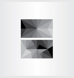 grayscale abstract geometric triangle background vector image