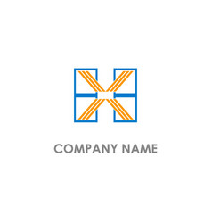 h x initial business logo vector image
