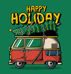 happy holiday t-shirt design vector image