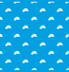 hardhat pattern seamless blue vector image