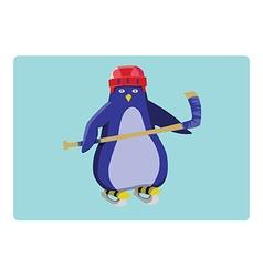 Hockey Penguin Emblem vector image