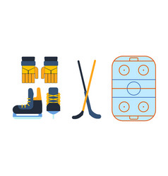hockey skates ice boots pair vector image
