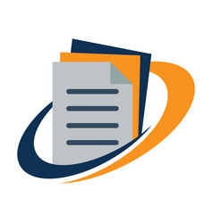 logo for document management vector image