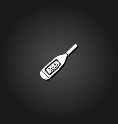 medical thermometer icon flat vector image
