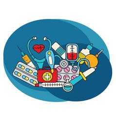 medicine design set vector image vector image