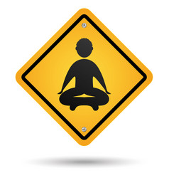 meditation road sign vector image
