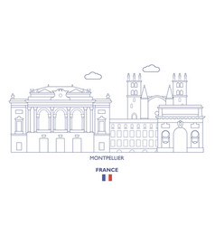 Montpellier city skyline vector