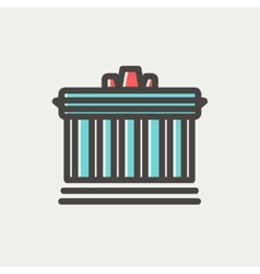 National Library thin line icon vector