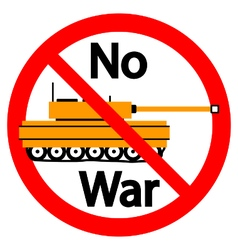 No war sign on white vector