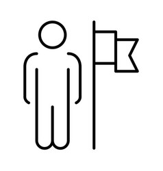 Outline team leader icon vector