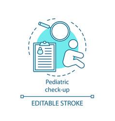 Pediatric check-up concept icon vector