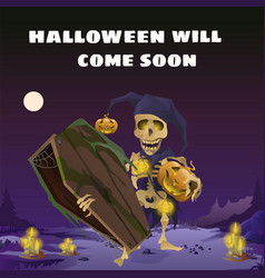 poster in style of holiday all evil halloween vector image