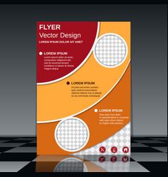 professional business flyer design vector image