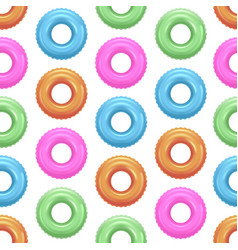 realistic detailed 3d color swim rings seamless vector image