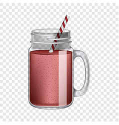 Red smoothie mockup realistic style vector