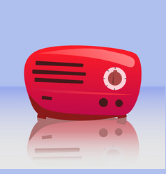 retro red radio vector image