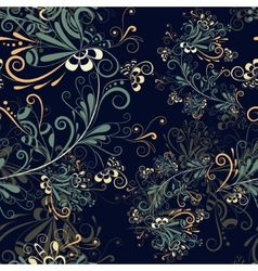 Seamless abstract floral pattern 5 vector image