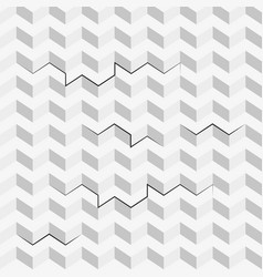 seamless pattern with isometric cubes vector image