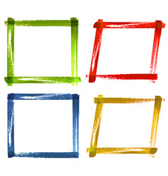 set of watercolor color grunge frames vector image