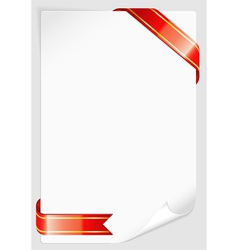 sheet of white paper vector image