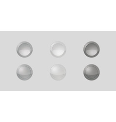 Six gray badges vector