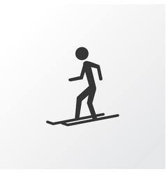 skier icon symbol premium quality isolated slalom vector image