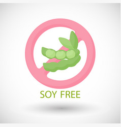 soy free flat icon food intolerance vector image