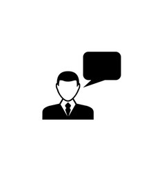 speaking man flat icon vector image