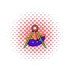 Swing icon comics style vector image