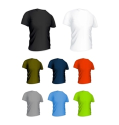 T-shirt on the white set vector image