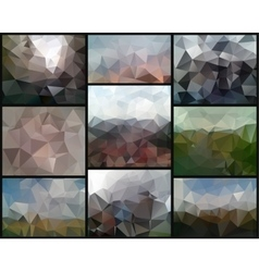 Triangle backgrounds vector image