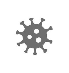 Virus microbe bacteria grey icon isolated vector