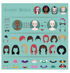 woman avatar maker vector image