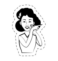 woman expression female black and white vector image