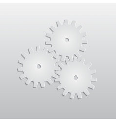 Background with paper gears vector image vector image