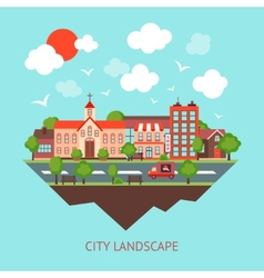 City scape background vector image vector image