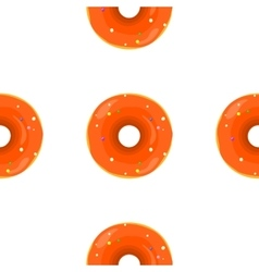 Donut Seamless Background Texture Pattern vector image