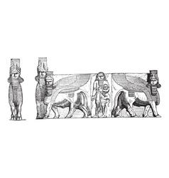 Kuyunjik Relief Sculptures vector image vector image