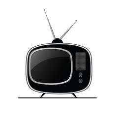 tv ancient black vector image vector image