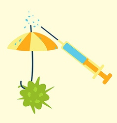 antibiotics umbrella concept vector image vector image
